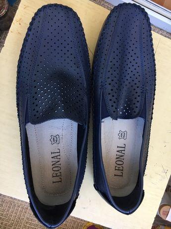 Мужские туфли лоферы кожа размер 42