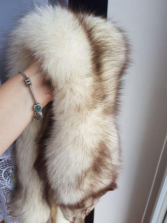 Lis naturalne prawdziwe futro 120 cm