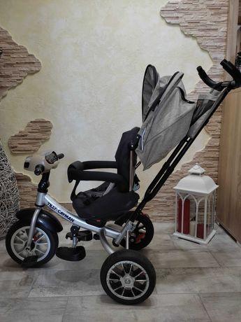 Детский трёхколёсный велосипед б\у , ручка контроля
