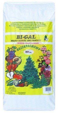 BI-GAL 20kg nawóz organiczny w pełni naturalny kurzy