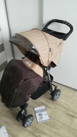 Wózek spacerowy baby design z folią i ocieplaczem.
