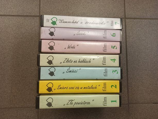 Ekologia filmy VHS kasety okazja komplet