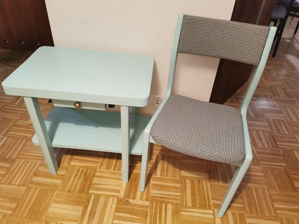 Komplet stolik i krzesło