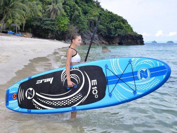 Deska pneumatyczna do pływania SUP / Długość 297 cm. Wyporność 110 kg.