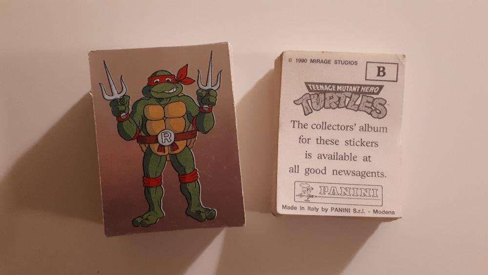 Cromos da Panini Tartarugas Ninja TMNT Hero Turtles (1990)