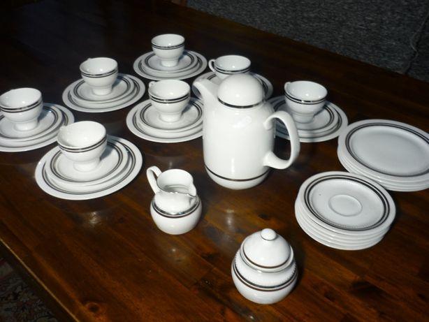 Serwis Kawowy 7 Osób Porcelana Bavaria z Niemiec