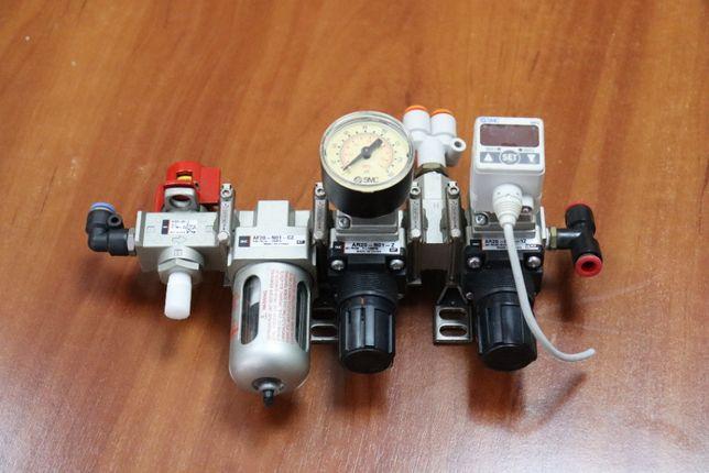 Блок подготовки сжатоговоздуха SMC редуктор манометр фильтр пневмо
