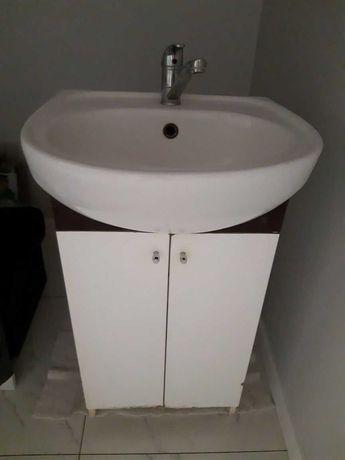 Szafka+bateria z umywalką łazienkowa do łazienki 50cm