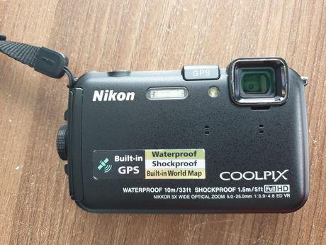 Wodoodporny aparat fotograficzny Nikon Coolpix AW100 + karta SD 4gb