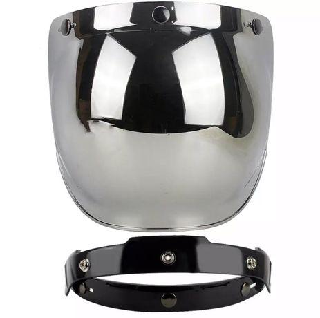 Viseira bolha (bubble) espelhada capacete moto