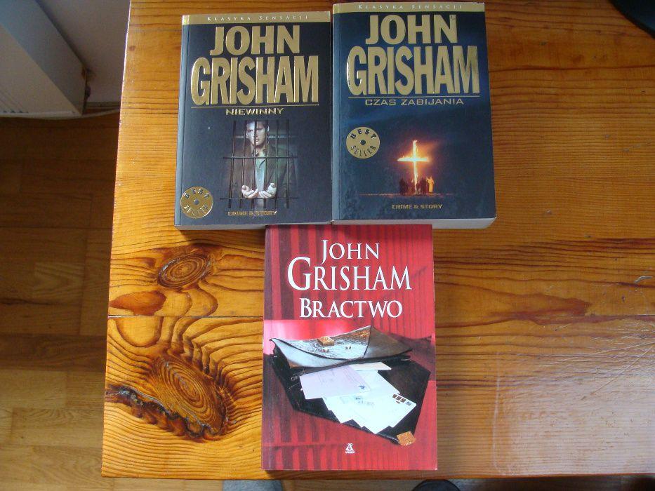 """John Grisham """"Czas Zabijania"""", """"Niewinny"""" i """"Bractwo"""" Stan BDB"""