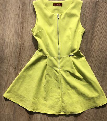 Sukienka limonkowa Freesia S