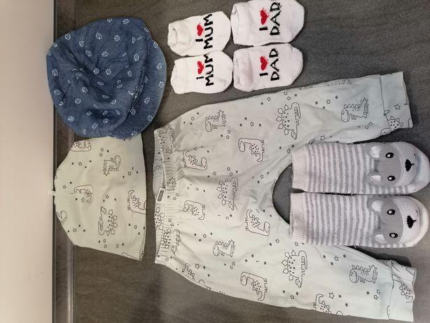 Набор одежды Waikiki штанишки шапочка кепка носочки 6-9-12 мес 68-74