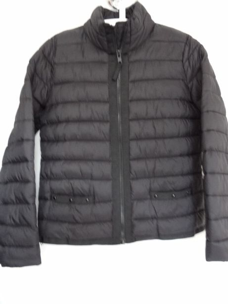 MANGO lekka czarna kurtka pikowana