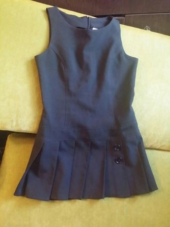 Сарафан черный школьный раз. 140-146 платье