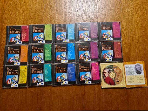 Coleção 14 CDs Os Melhores Temas dos Melhores Filmes + 1 CD Mozart