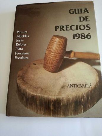 """Livro Antiguidades Antiqvaria """" Guia de Precios 1986"""" Língua Espanhola"""