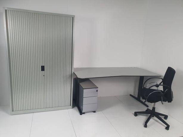 Zestaw mebli do biura jakość metalowe szafa stół fotel kontener