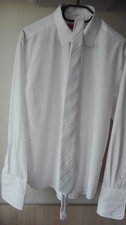 Koszula ślubna+krawat+poszetka