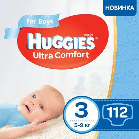 Подгузники Huggies ultra comfort  3/112 4/100  5/84 Россия