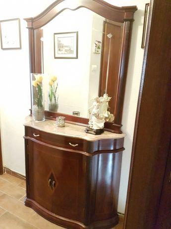 Movel de Madeira e Marmore + espelho