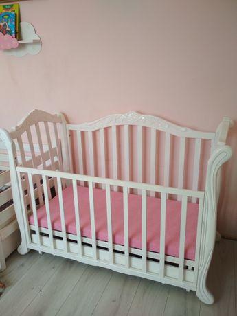 Кровать  белая кроватка ліжечко