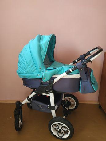 Детская коляска 2 в 1 модная расцветка,ванночка для купания в подарок
