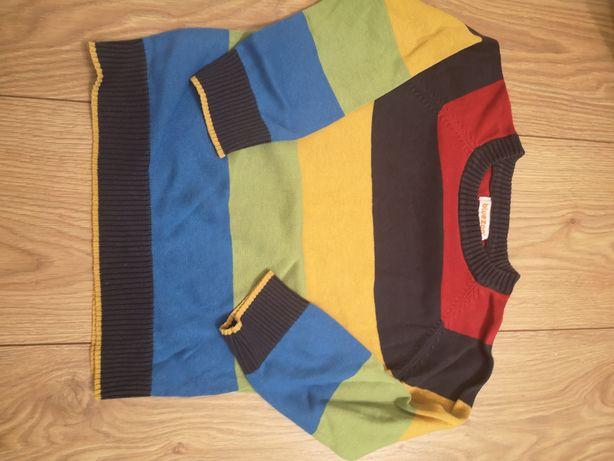 Sweterek kolorowy r 98