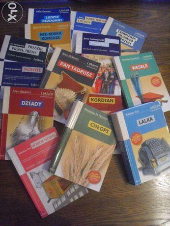 lektury szkolne z opracowaniami,idealne do matury!