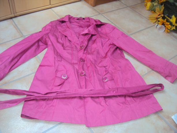 Płaszczyk wiosenny różowy fuksja płaszcz kurtka wiosenna xxl 44