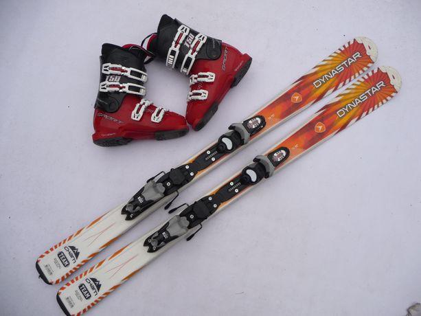 Komplet narciarski dla dziecka - narty Dynastar 120 cm + buty 35 eu