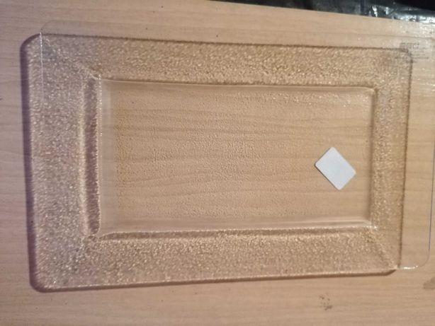 Travessa de vidro rectangular