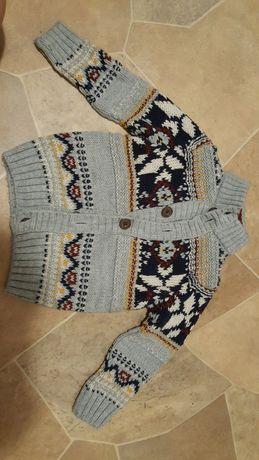 Nieużywany ciepły sweter Marks&Spencer, rozm 83cm