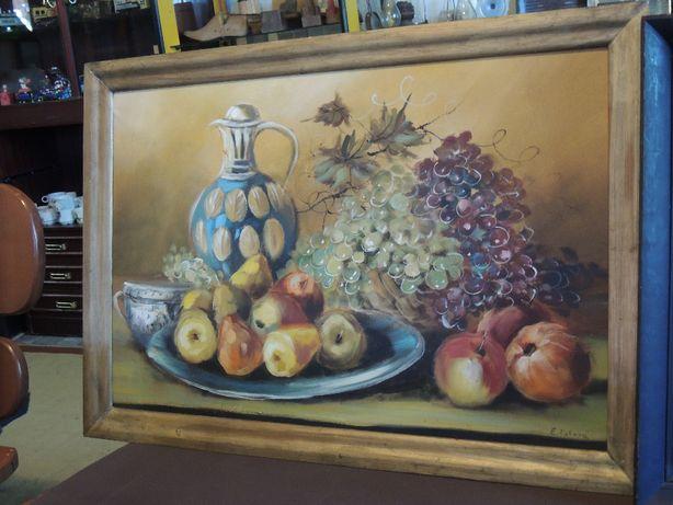 Piękny duży ręcznie malowany obraz z ramą jedyne 99 zł nr 5