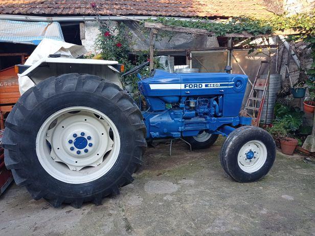 Trator Ford 4600 + reboque+fresa+charrua+gamela