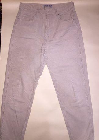 Бежевые штаны mom denim co
