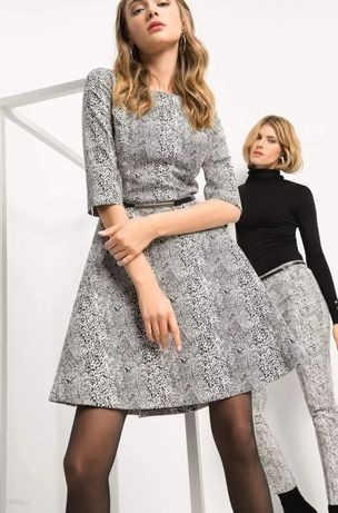 Orsay _ sukienka w wężowy wzór z paskiem r. 36
