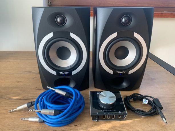Głośniki monitory studyjne Tannoy Reveal 501a, interfejs audio i kable