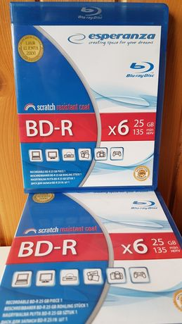 Płyta BLU-RAY BD-R esperanza 25 GB nowa + pendrive 16GB gratis