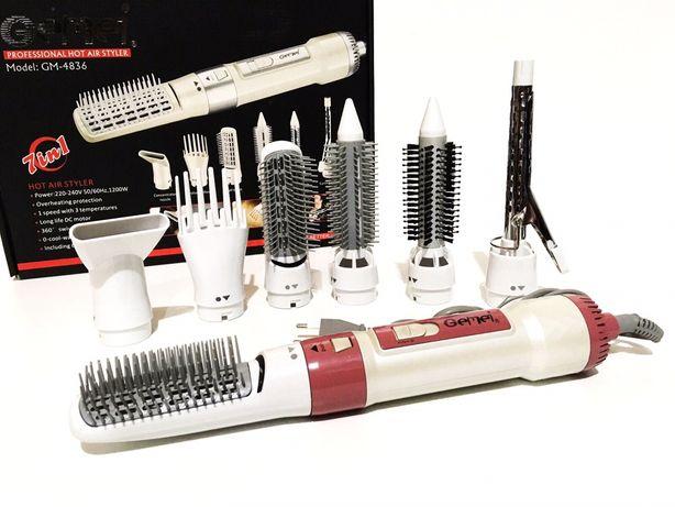 Фен для волос 7в1 Фен стайлер для волос Женский фен-щетка для укладки