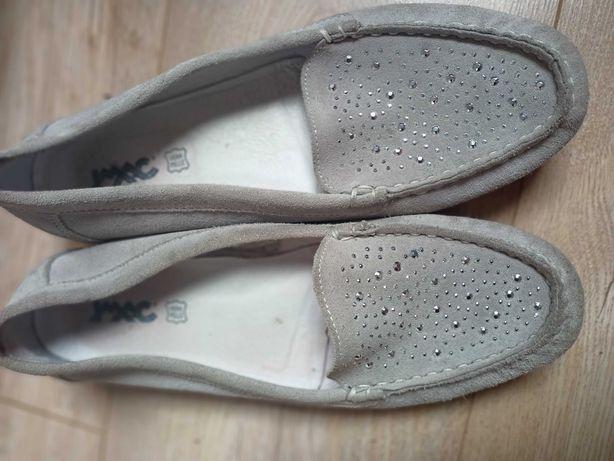 Wygodne skórzana mokasyny damskie buty 37 38 24 cm