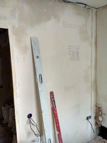 Ремонт и отделка жилых помещений (штукатурка, плитка, шпаклёвка)