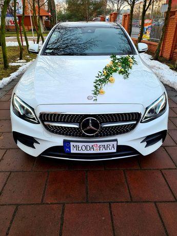 AUTO DO ŚLUBU biały Mercedes E klasa AMG