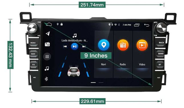 Radio nawigacja Toyota RAV4 2013=2018 ANDROID DVD RDS WiFi Bluetooth