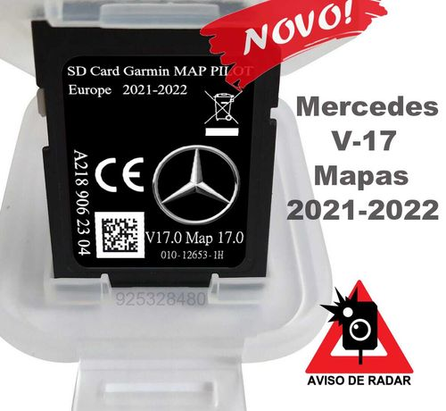 Mercedes Europa 2022 cartao GPS - v17- star1 e star2 , + Radares