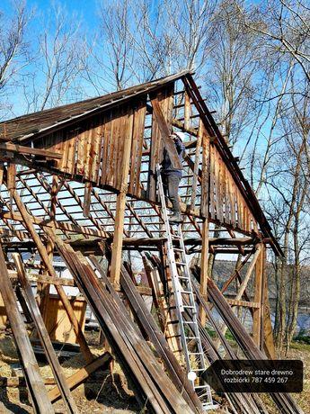 Rozbiórka stodola stodoly stare drewno deski skup desek stodola
