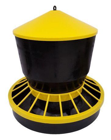 Karmidło zasypowe, automatyczne, 20 kg, czarno - żółte