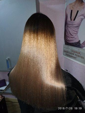 покраска волос и услуги парикмахера мелирование омбре