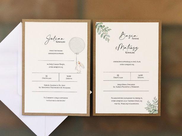 Zaproszenia na ślub i chrzciny_Balonowy Zając