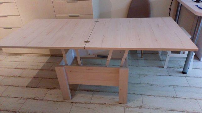 Ławostół stolik stół Bodzio rozkładany skręcony dąb soma perłowy nowy